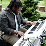 keyboard being played at a wedding